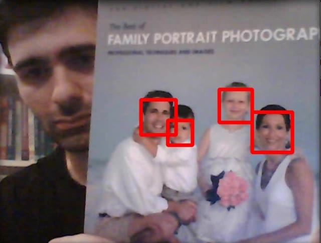 Computer vision: OpenCV realtime face detection in Python